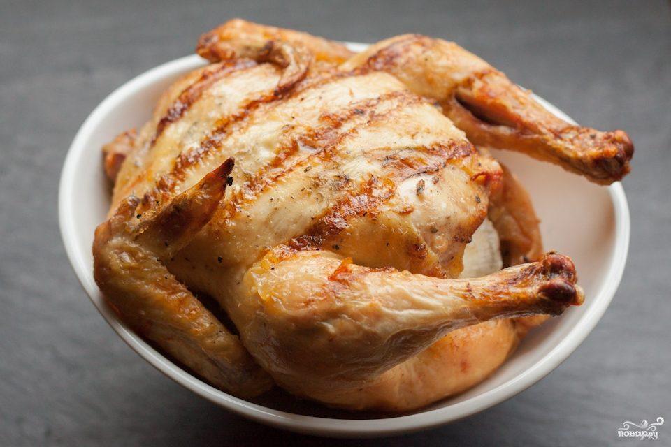 Курица на решетке гриль