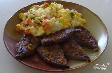Рецепт Отбивные из свиной печени