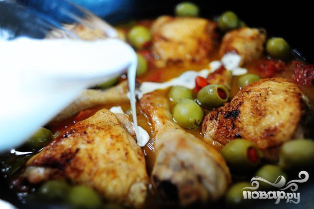 Курица с оливками - фото шаг 18
