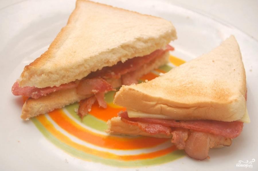 Сэндвич с беконом - фото шаг 4