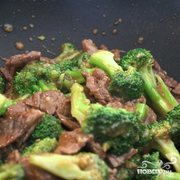 Говядина с брокколи под устричным соусом - фото шаг 8