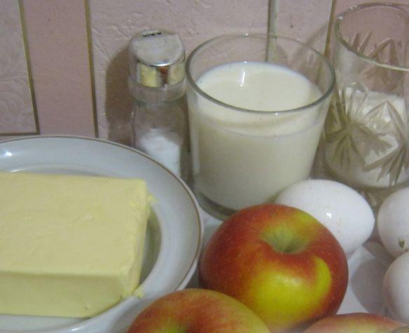 Рецепт Омлет с яблоками