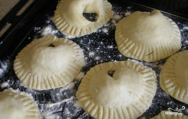 Пирожки с индейкой в духовке - фото шаг 10