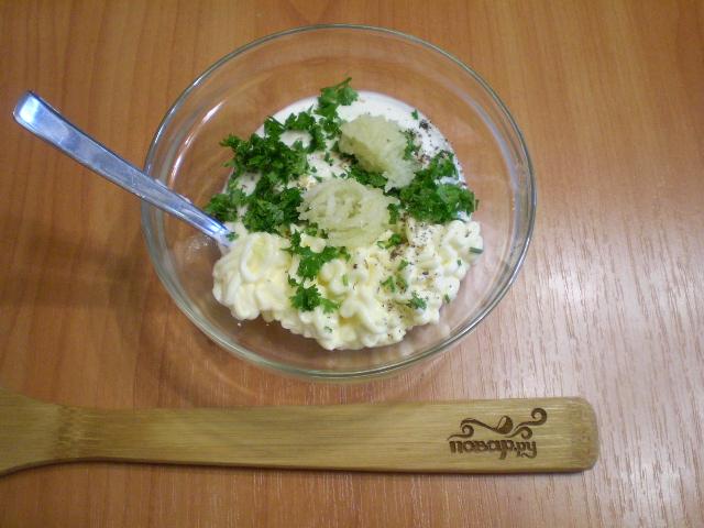Картошка под чесночным соусом в духовке - фото шаг 3