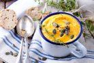 Зимний крем-суп с семечками