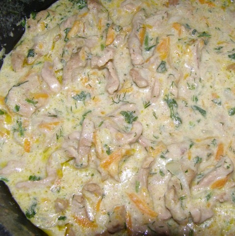 Говядина в сливочном соусе - фото шаг 7