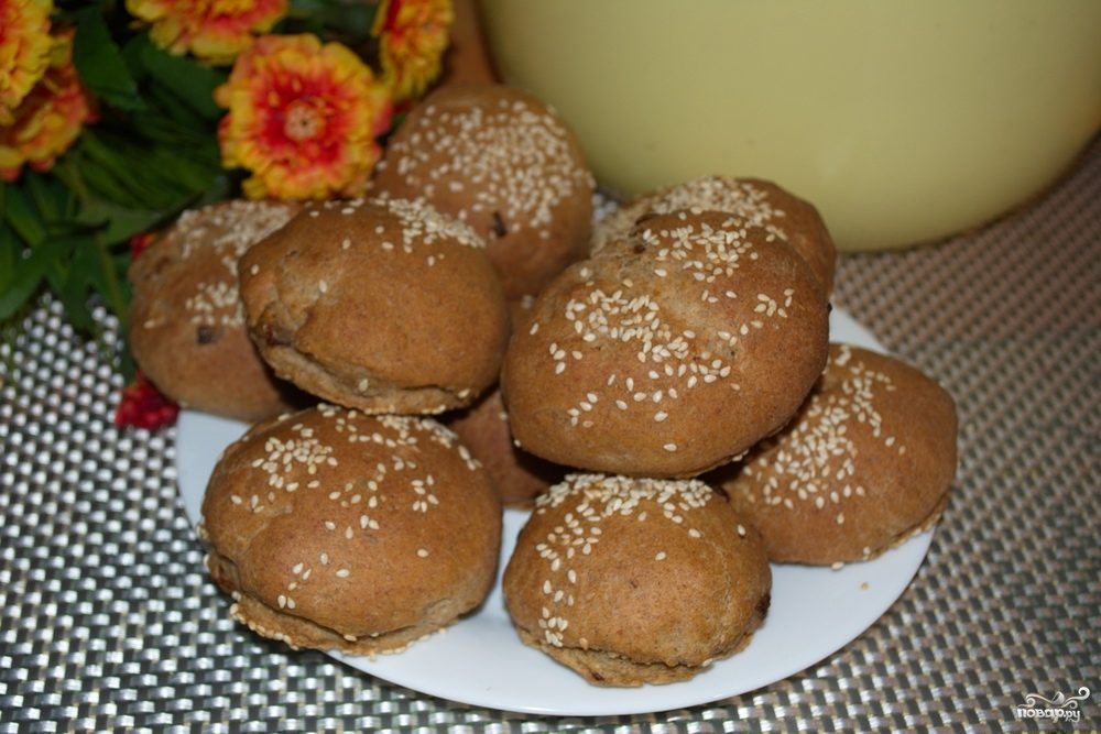 Ржаные булочки с луком в хлебопечке