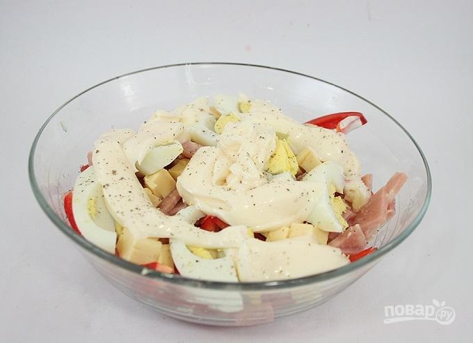 салаты с ветчиной и овощами рецепт фото
