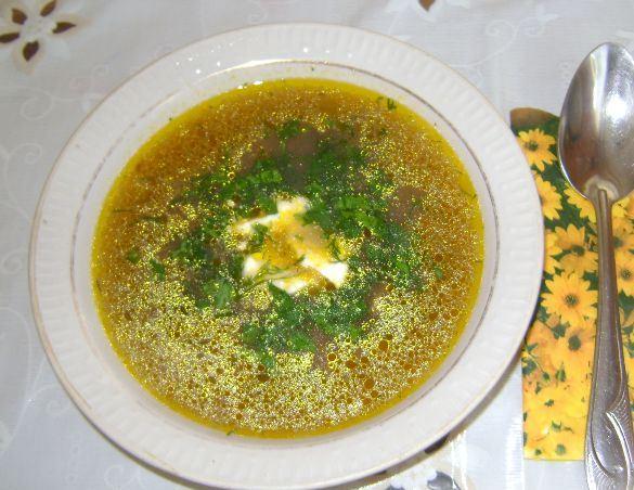 Грибной суп с рисом - фото шаг 9