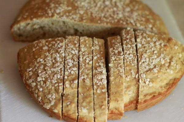 Белый хлеб без дрожжей - фото шаг 4