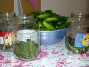 Рецепт Маринованные огурцы быстрого приготовления
