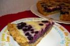 Черничный пирог со сливками