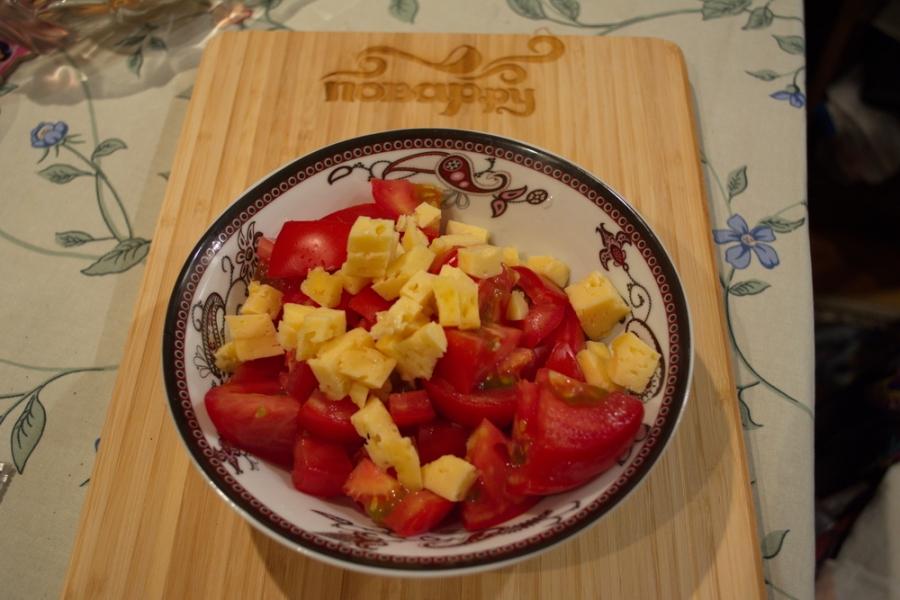 Помидоры с сыром - фото шаг 2