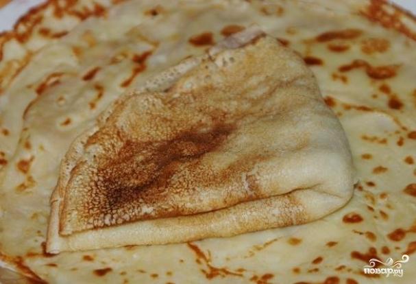 Рецепт блинчики с ливерной колбасой рецепт