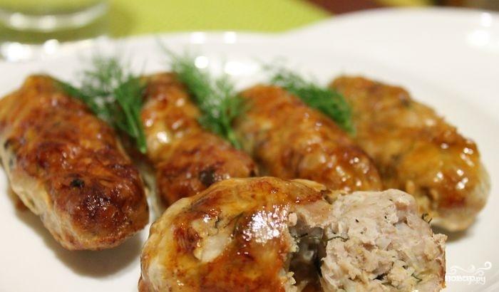 Колбаса в сетке - фото шаг 7