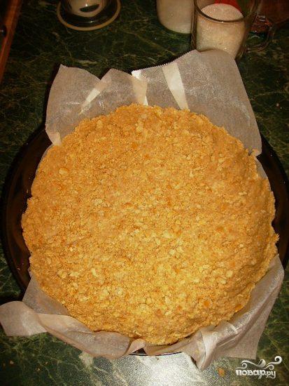 Корж из печенья без выпечки