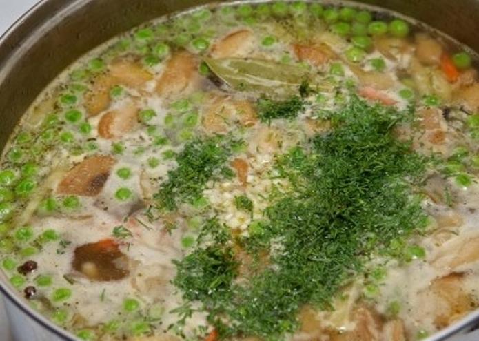 Грибной суп из замороженных грибов   - фото шаг 8