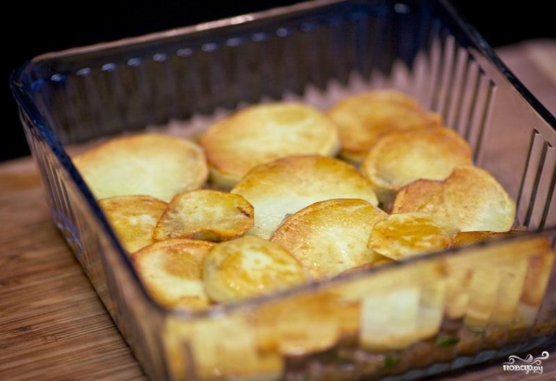 Картофель с фаршем в духовке - фото шаг 10