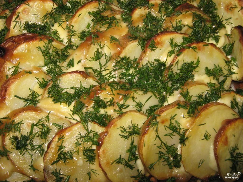Рецепт Картофель запеченный под майонезом