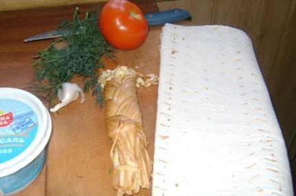 Рецепт Лаваш с сыром в духовке
