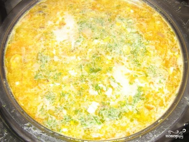 Сырный суп с грибами рецепт с плавленным сыром с фото пошагово