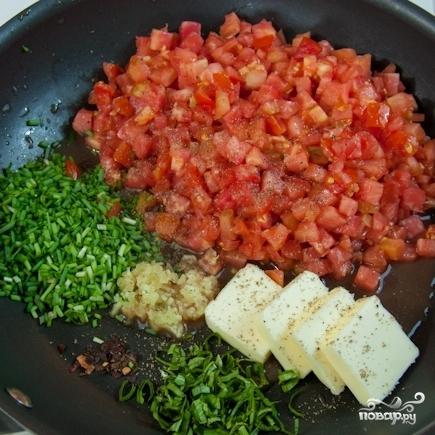 Рецепт Спагетти с креветками в сливочно-томатном соусе