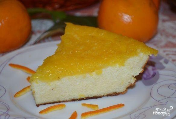 Творожная запеканка с апельсином