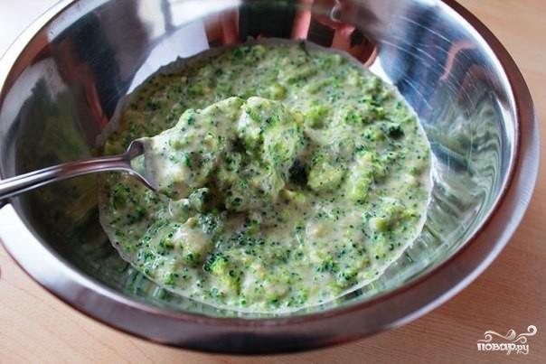 Оладьи из брокколи с сыром - фото шаг 2