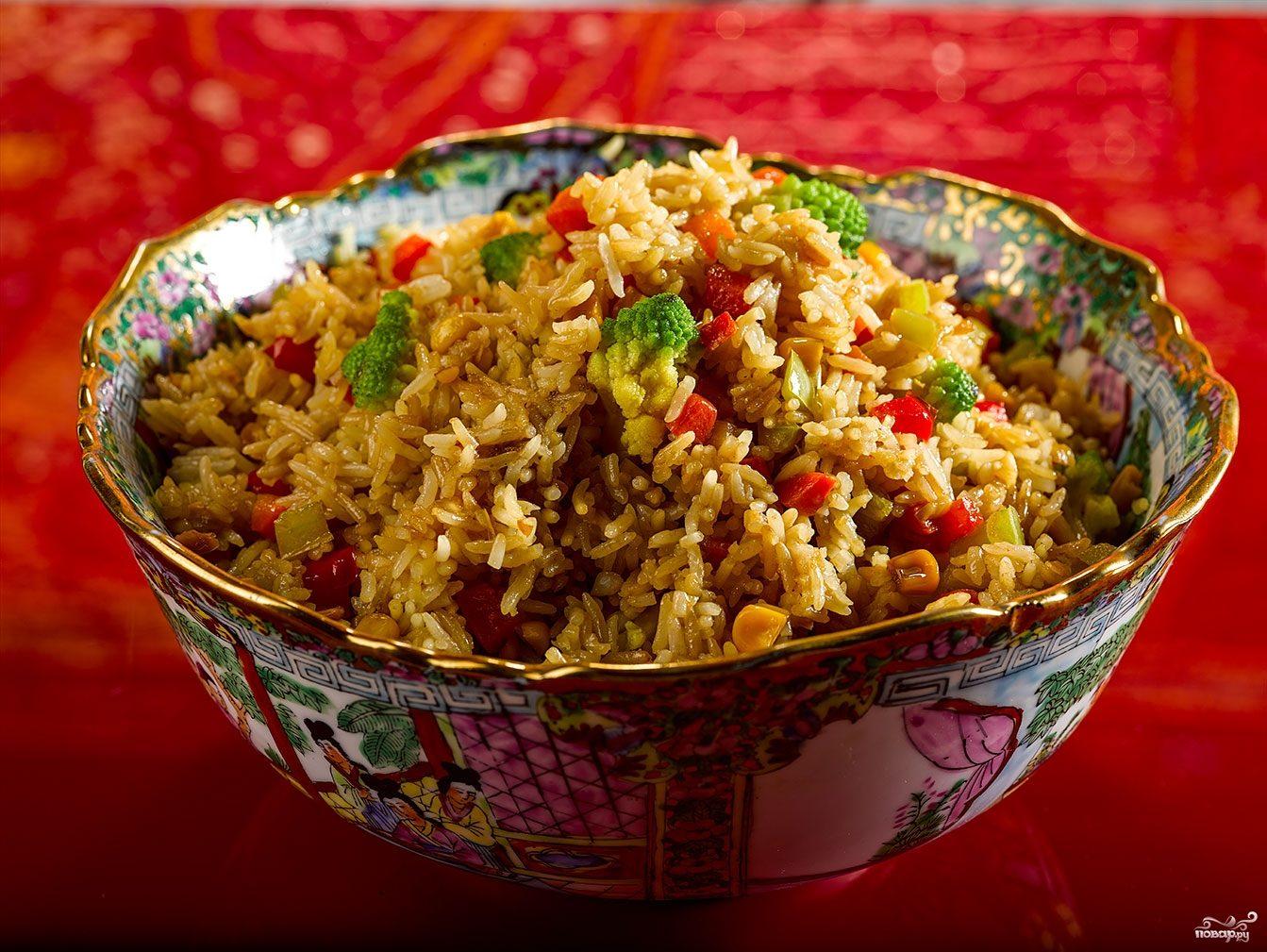 Японский рис с овощами