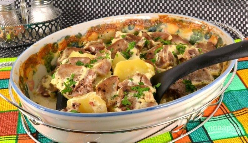 картошка с мясом в большом горшке в духовке рецепт с фото