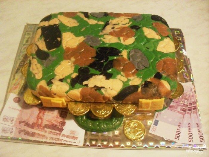 """Торт """"Кейс"""" с деньгами"""