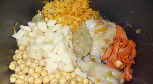 Суп из нута в мультиварке - фото шаг 2