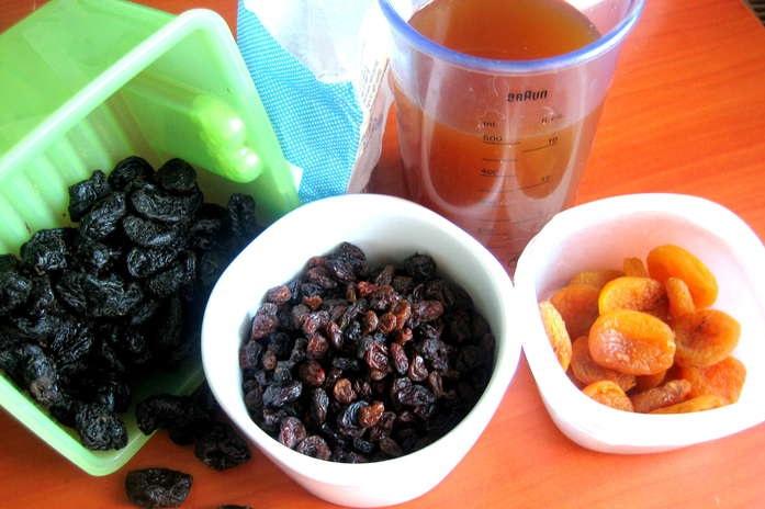 Рецепт Сладкий суп из сухофруктов