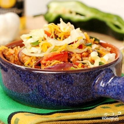 Рис с курицей и овощами - фото шаг 14
