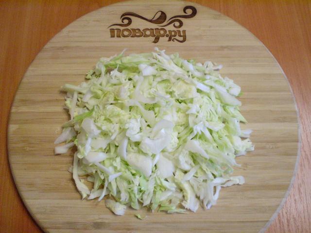 Капустные оладьи с манкой - фото шаг 2