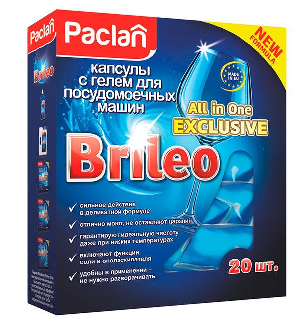 Продукты для посудомоечных машин Paclan Brileo