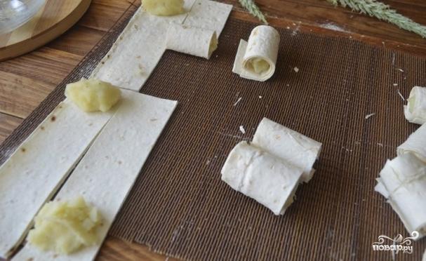 Лаваш с картофельным пюре - фото шаг 4