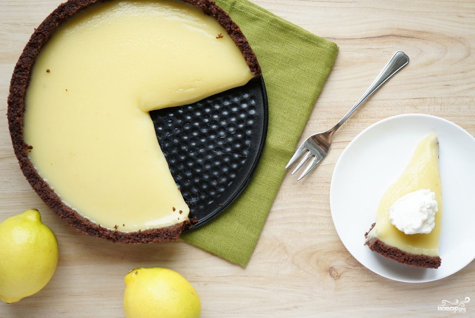 Пирог с лимонным курдом