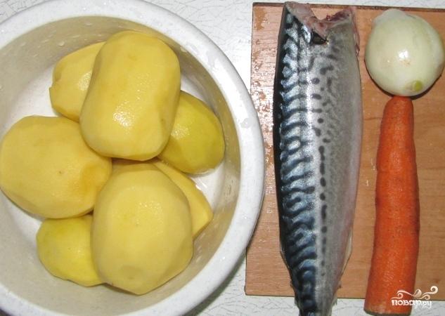 Рецепт Скумбрия в духовке с картофелем