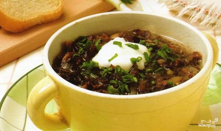 Рецепт Грибной суп из замороженных опят