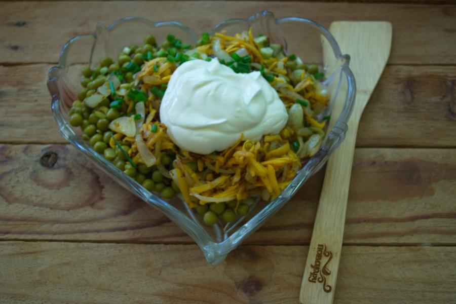 Салат куриный с сыром рецепт пошаговый 132