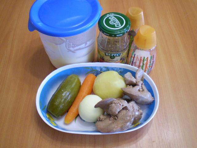 Салат с печенью куриной - фото шаг 1