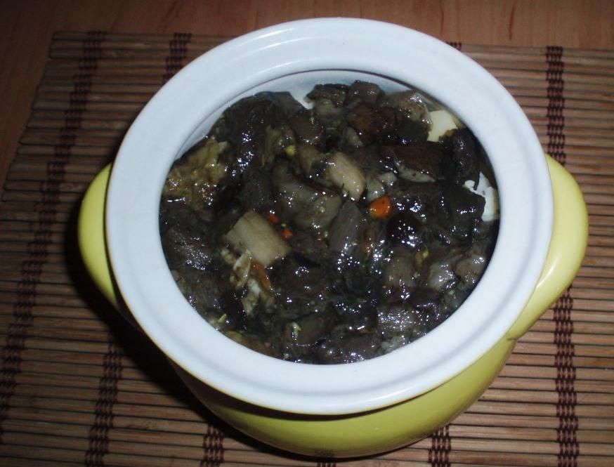 Жаркое с мясом и грибами - фото шаг 3