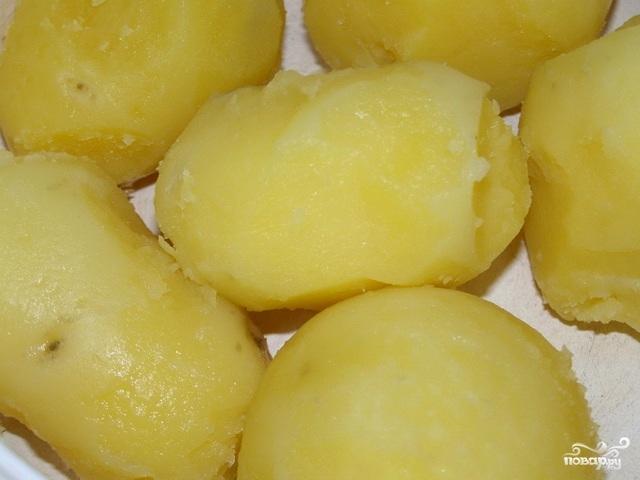 Картофель со шпинатом - фото шаг 1