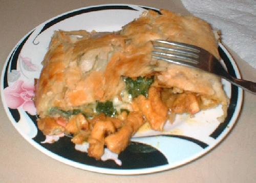 Сэндвич с цыпленком, шпинатом и сыром - фото шаг 8