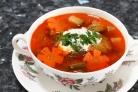 Быстрый овощной суп со свининой