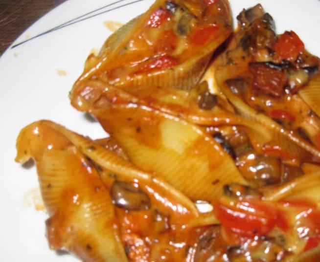 Фаршированные макароны ракушки с грибами - фото шаг 5