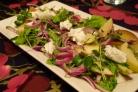 Салат с луком и яблоками