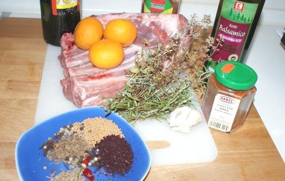 Рецепт Ребрышки барбекю, запеченные в духовке
