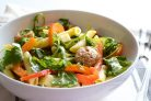 Зимний салат с колбасой